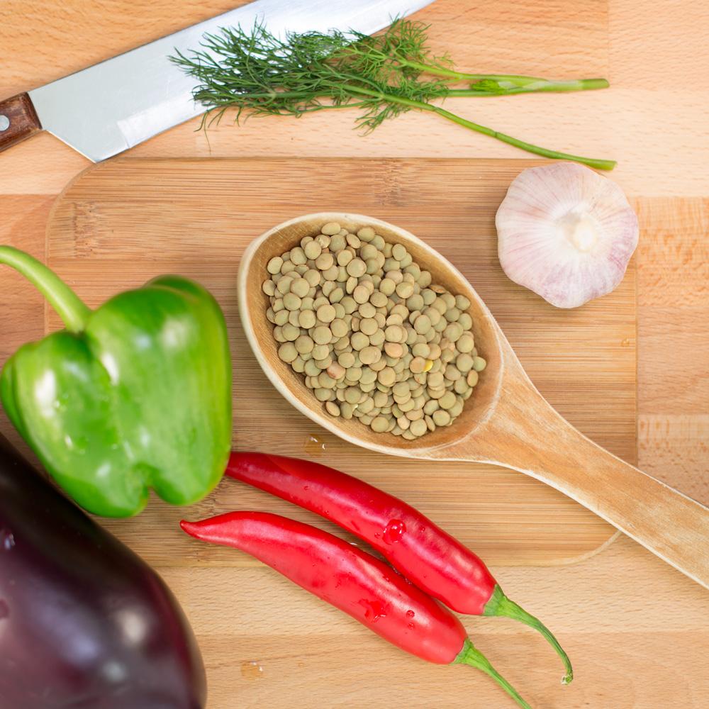 gröna linser green lentils