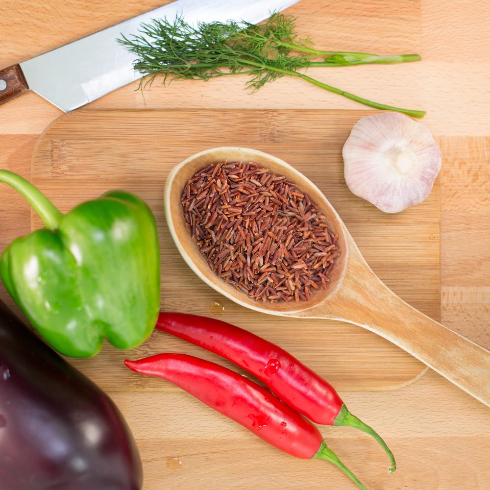 rött ris fullkornsris red rice